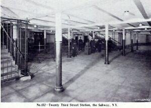 1905-J-Koehler-No-152-23rd-Street-Station-Subway-Police-Officers-NYC-Postcard