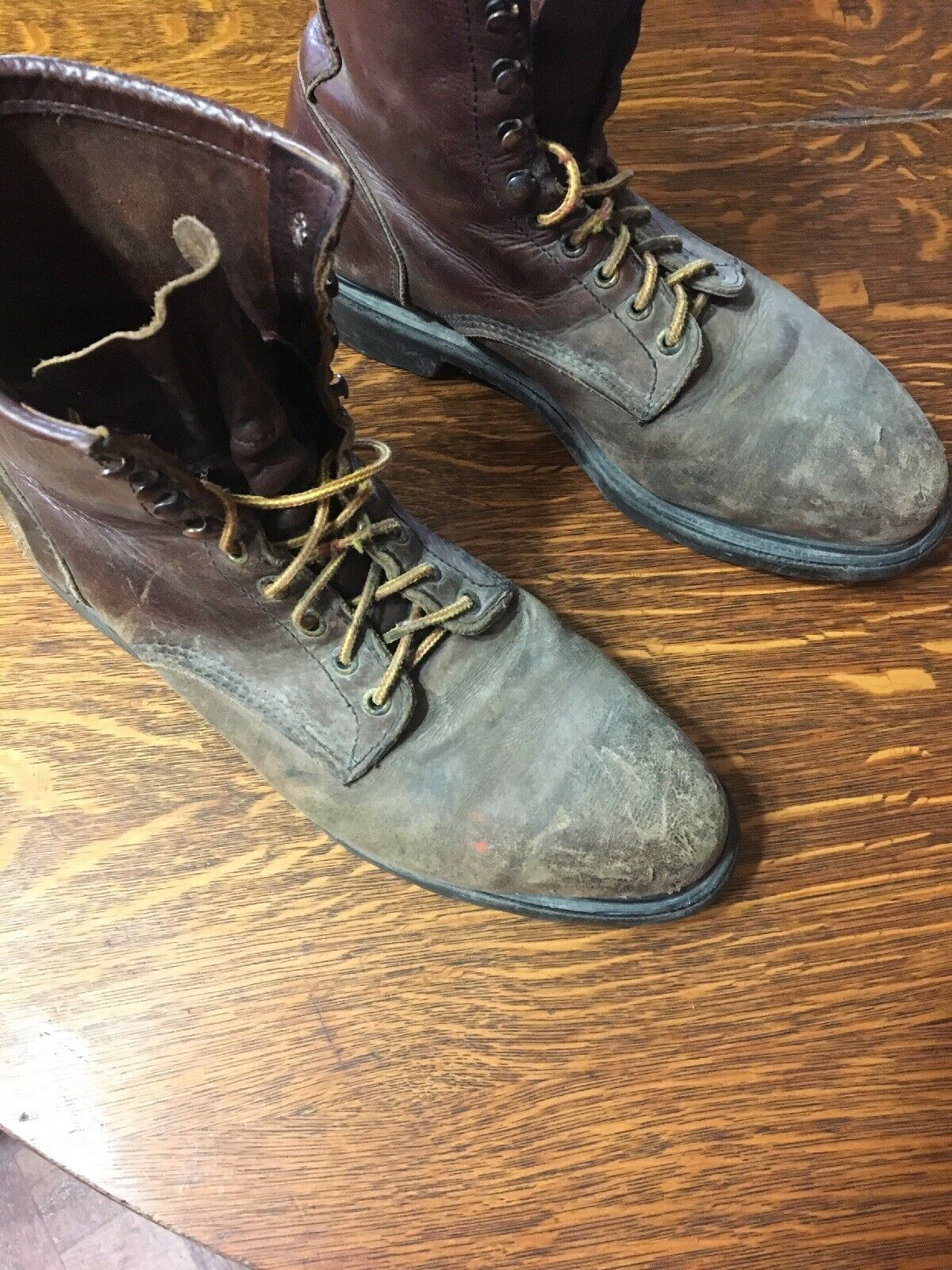 Red Wing Steel Toed Workboots Size 11.5 Made In Usa