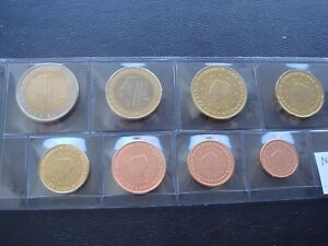 Netherlands 2005 Year Unc Coin Set From 1 Cent 2 Euro Total 8 Coins 3 88 Euro Ebay