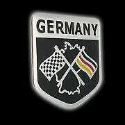 Metal German Flag Emblem Grille Badge Racing Car Auto Sticker Decal Accessories