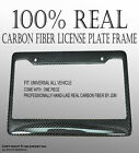 JDM 1pc Carbon fiber License Plate Frame Cover US stander size Style #1 CooM2788
