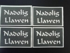 Nadolig Llawen word stencils for etching on glass Happy Christmas Welsh Cymraeg