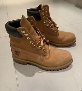 Détails sur Chaussures Boots Timberland homme 6 In Boot Wheat taille Beige Nubuck Lacets