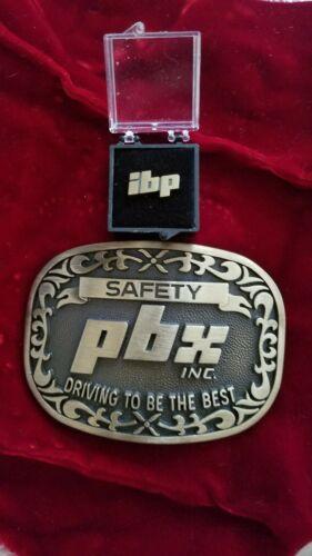 Vintage Safety Award Belt Buckle PBX Inc. Gold Ton