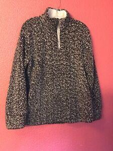 Women's Girls Zesica Fleece Pullover Sz M Granite