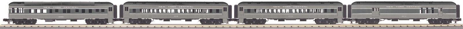 MTH 30-69297 New York Central 4 coche Madison Set Railking Cocheril de 3 Calibrador O gris
