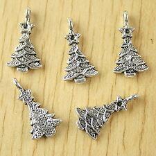 24pcs Tibetan silver christmas tree charms H2585