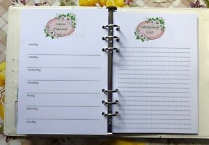 Cherry Cats Daily Planner A5 120gsm 50 double sided pages Wirobound