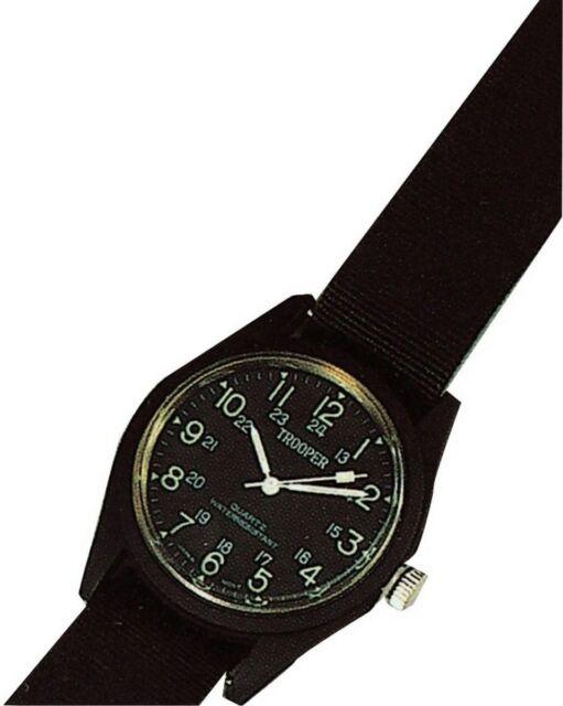 Black Field Watch Black  Water Resistant 4105 - BLACK