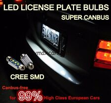 Super-Canbus WHITE CREE 3SMD LED LICENSE Number PLATE LIGHTS For Passat Jetta CC