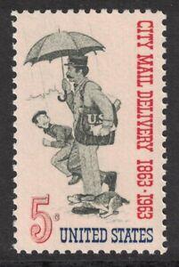 Scott-1238-City-Correo-Entrega-Carta-Carrier-MNH-5c-1963-sin-Usar-Mint-Sello