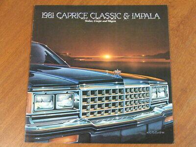 1981 Chevrolet Malibu 20-page Original Dealer Sales Brochure Catalog Classic