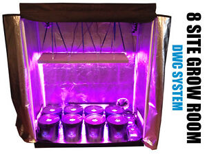 Image is loading 8-Site-Hydroponic-System-Grow-Room-Complete-Grow- & 8 Site Hydroponic System Grow Room - Complete Grow Kit - Grow Tent ...