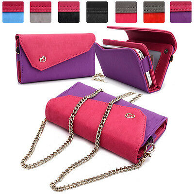 Womens Link Wallet Case & Crossbody Clutch Cover for Smart Cell Phones CRWL13