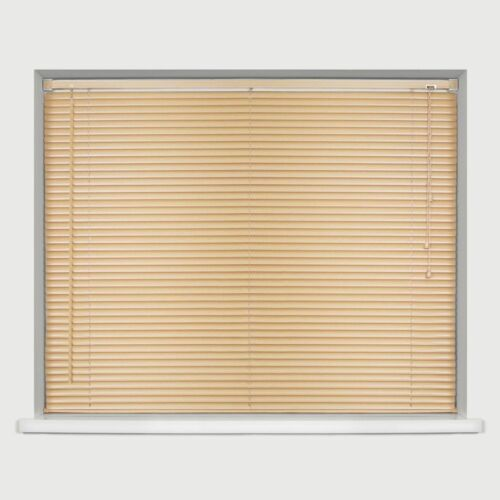 NATURAL WOOD EFFECT PVC VENETIAN WINDOW BLINDS EASY FIT TRIMABLE HOME ALL SIZES