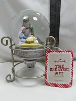 2013 Hallmark The Greatest Gift Nativity Snow Globe With Stand