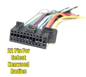 car stereo radio replacement wire harness plug for select kenwood 22 rh ebay com Wire Harness Connector Pin Removal Wire Harness Connector Pin Removal