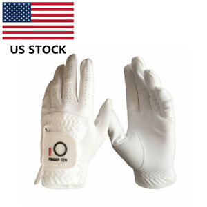 Golf-Glove-Mens-Microfiber-Fabric-Left-Hand-Value-Pack-White-Black-TaylorMade