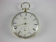 Antique Swiss made Fred Nicoud key wind pocket watch. Very hi-grade 20-21j. 49mm