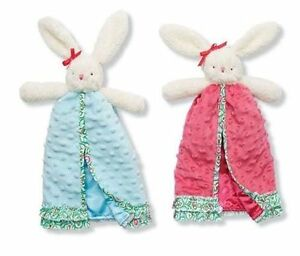 Mud Pie Spring Easter Baby Girl Pink Or Blue Bunny Blanket