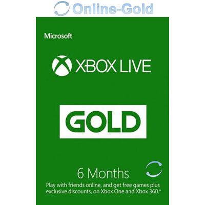 Abbonamento Xbox Live Gold di 6 mesi Codice Microsoft Xbox One 180 chiave - IT