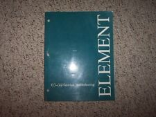 2003-2004 Honda Element Electrical Wiring Diagram Manual DX EX LX