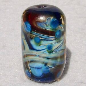 WASHOUT-Handmade-Art-Glass-Focal-Bead-Flaming-Fools-Lampwork-Art-Glass-SRA
