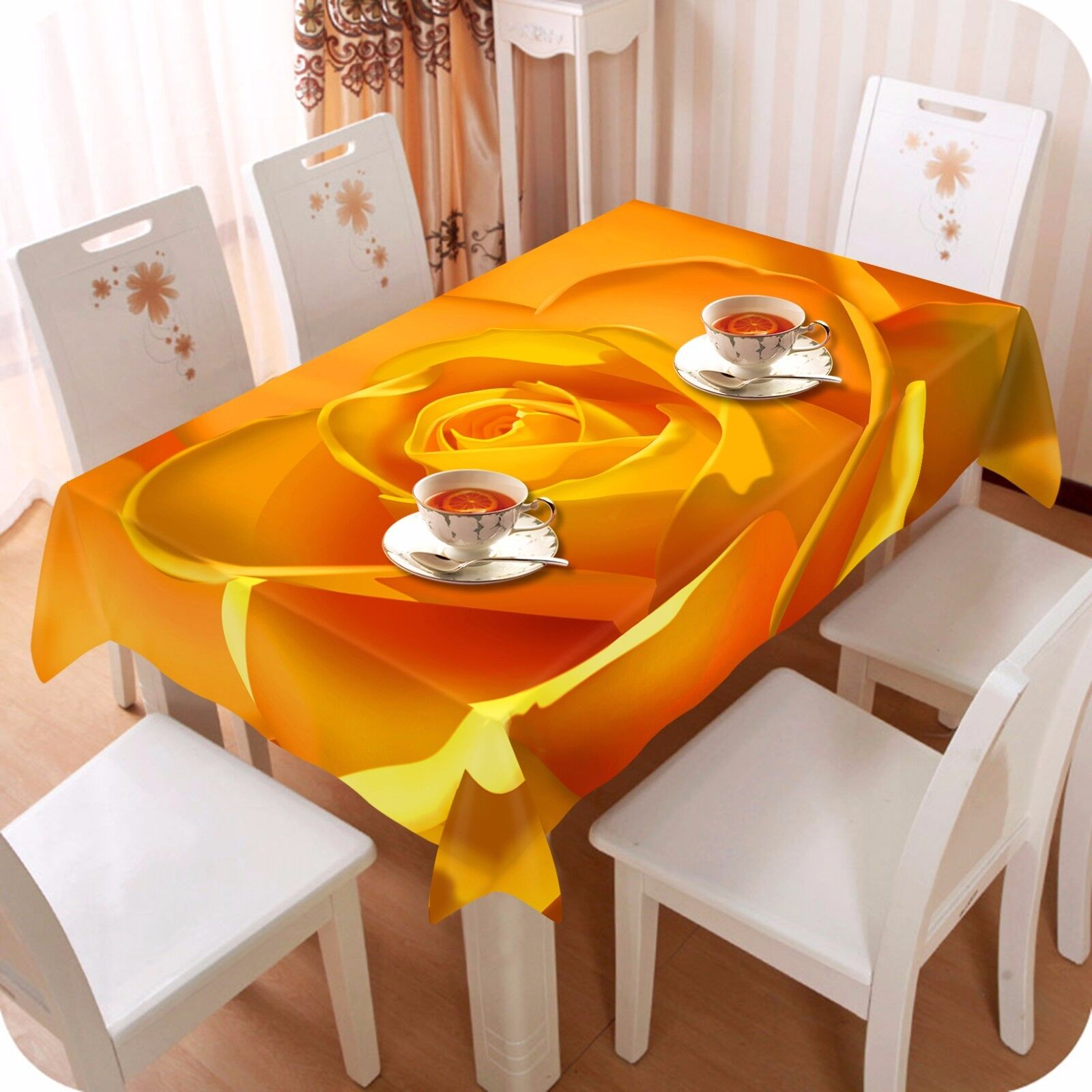3D Flower 4303 Tablecloth Table Cover Cloth Birthday Party Event AJ WALLPAPER AU