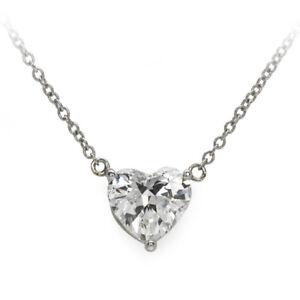 2Ct-Brilliant-Heart-Diamond-14k-White-Gold-Over-Circle-Pendant-w-18-034-Necklace
