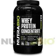 NutraBio - WHEY PROTEIN CONCENTRATE - Powder  *2 Pounds* 100% Pure!
