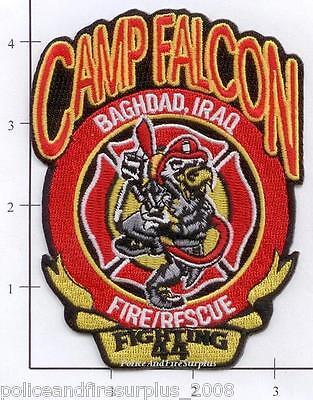 Iraq Camp Cuervo WSI Fire Rescue EMS Dept Patch OIF