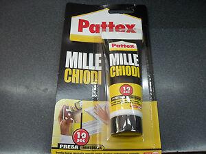 Pattex mille chiodi super colla bianco g legno piastrelle