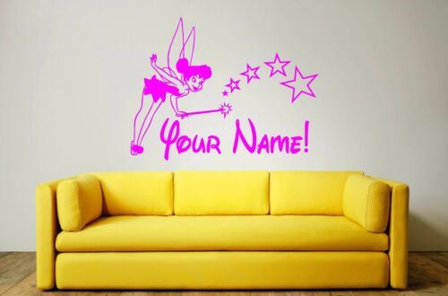 Decal 90 x 57cms Mural TINKERBELL Wall Art Sticker PERSONALISE FOR FREE