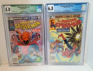 AMAZING-SPIDERMAN-238-CGC-5-0-239-CGC-6-5-lot-1st-Hobgoblin-Newsstand-Edition