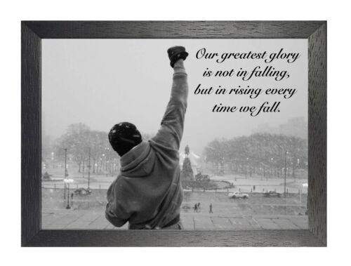 Rocky Our Greatest Glory Quote Motivation Determination Picture Photo Poster