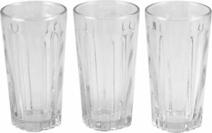 High-Quality-Pack-Of-3-Oslo-Crystal-clear-Long-Glass-Tumbler-10oz
