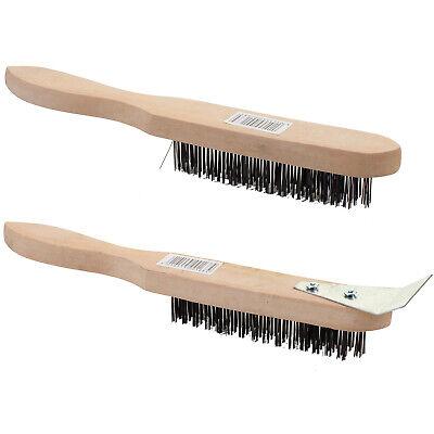 31573 Draper 290mm 4 Row Wire Scratch Brush with Scraper
