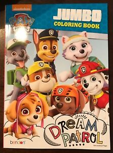 Details About Brand New Paw Patrol Dream Patrol Jumbo Coloring Book Marshall Chase Rocky