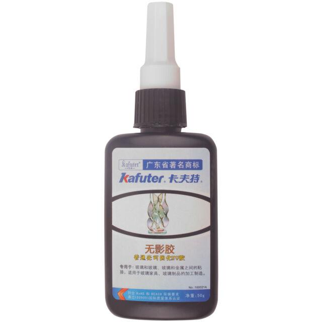 Metal Glass Bonding Visible UV Light Cure Adhesive Glue 50ml