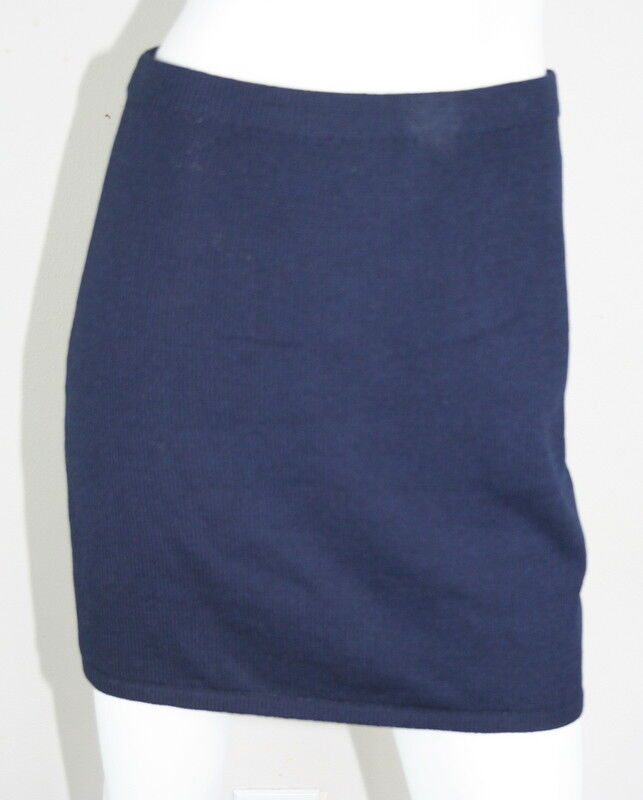 St. John Navy bluee Santana Knit Straight Pencil Skirt 6 S SM Small