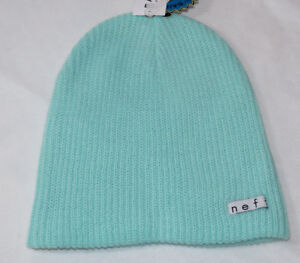 85a072d5844 NEFF Daily Beanie knit hat skull cap lid NEW One Size Mint Green ...