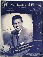 """1955 PHILCO TELEVISON PLAYHOUSE SHEET MUSIC """"PLAY ME HEARTS AND FLOWERS"""" DESMOND"""