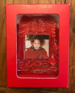 Gorham-Glass-Picture-Frame-with-Cats-Christmas-Tree-Ornament-3-1-2-034-L-x-2-3-4-034-W