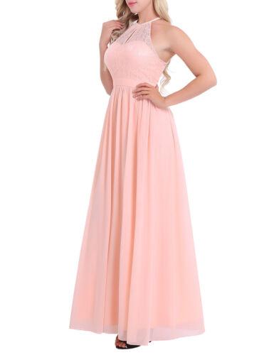 Dresses Damen Kleider Elegant Hochzeit Sommer Kleid Lang ...