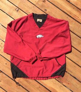 Arkansas-Razorbacks-Vented-Pullover-Windbreaker-Jacket-Vesi-Sportswear-Mens-Sz-L
