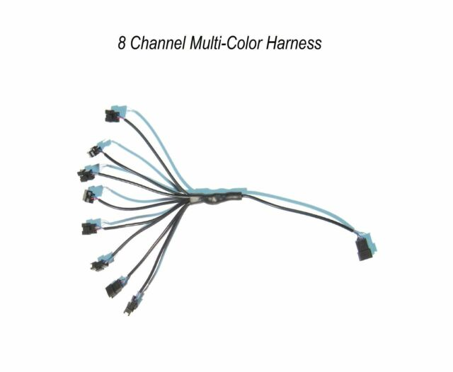 8 Channel LED Multi-Color Accent Light Harness RGB 4 Pin Adapter Splitter