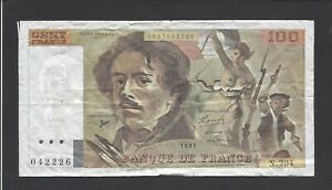 """100 Francs """"delacroix"""" 1991 @ Alph. 204 @ Cgxcqsx1-07231127-631558068"""