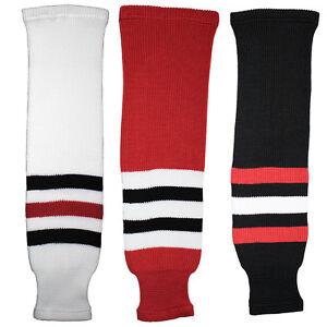 Chicago-Blackhawks-Knitted-Classic-Hockey-Socks-Red-Black-White