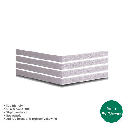 Foamboard A1 x 5mm White pack of 10