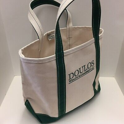 Tremendous Ll Bean Boat And Tote Heavy Duty Canvas Bag W Green Trim Med Doulos Wealth Ebay Beatyapartments Chair Design Images Beatyapartmentscom